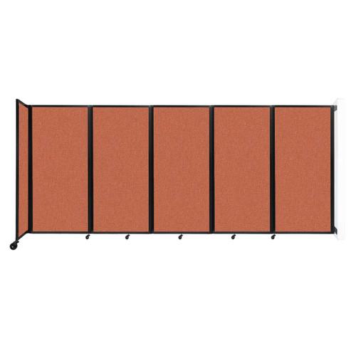 Wall-Mounted Room Divider 360 Folding Partition 14' x 6' Papaya Fabric
