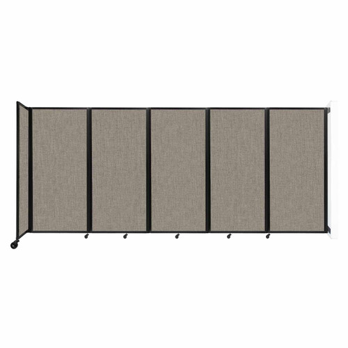 Wall-Mounted Room Divider 360 Folding Partition 14' x 6' Warm Pebble Fabric