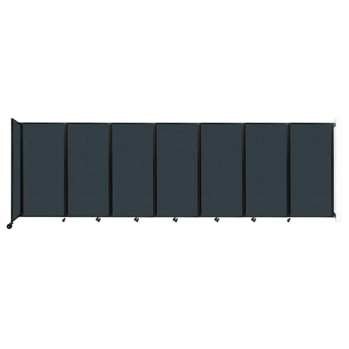 """Wall-Mounted Room Divider 360 Folding Partition 19'6"""" x 6' Blue Spruce Fabric"""