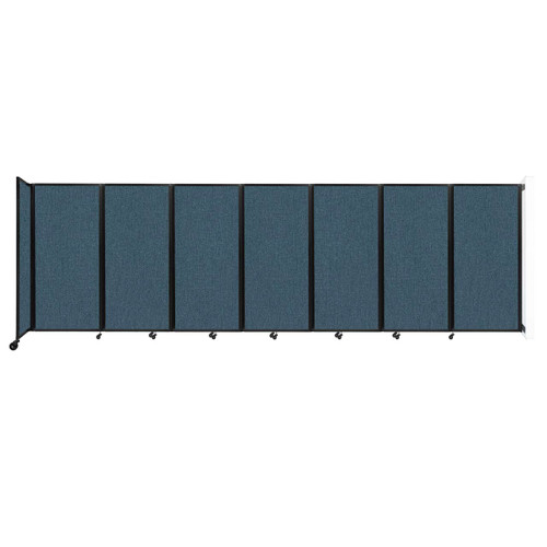 """Wall-Mounted Room Divider 360 Folding Partition 19'6"""" x 6' Caribbean Fabric"""