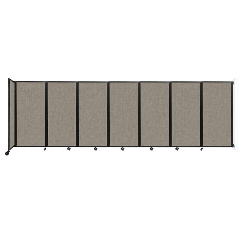 """Wall-Mounted Room Divider 360 Folding Partition 19'6"""" x 6' Warm Pebble Fabric"""