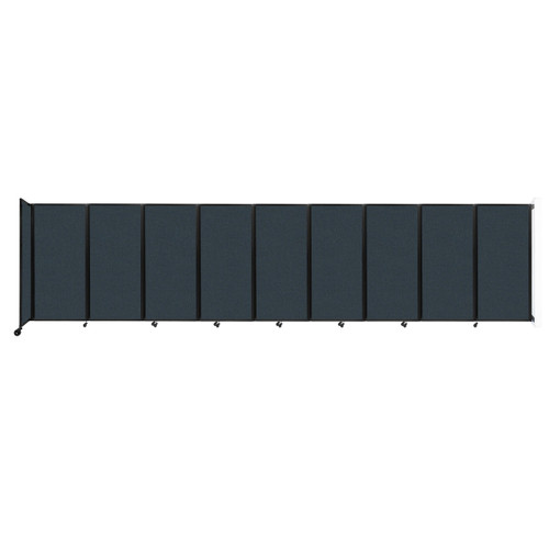 Wall-Mounted Room Divider 360 Folding Partition 25' x 6' Blue Spruce Fabric