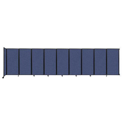 Wall-Mounted Room Divider 360 Folding Partition 25' x 6' Cerulean Fabric