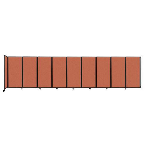 Wall-Mounted Room Divider 360 Folding Partition 25' x 6' Papaya Fabric