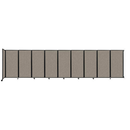 Wall-Mounted Room Divider 360 Folding Partition 25' x 6' Warm Pebble Fabric