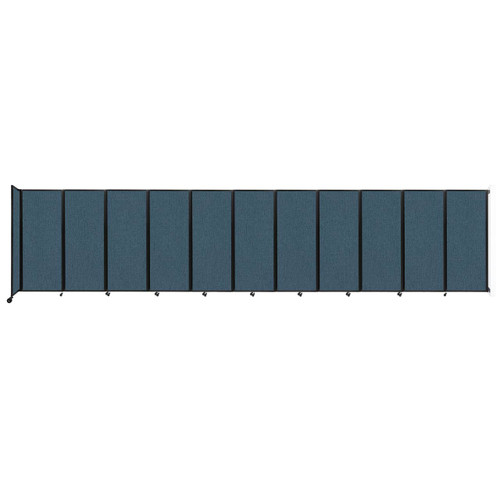"""Wall-Mounted Room Divider 360 Folding Partition 30'6"""" x 6'10"""" Caribbean Fabric"""