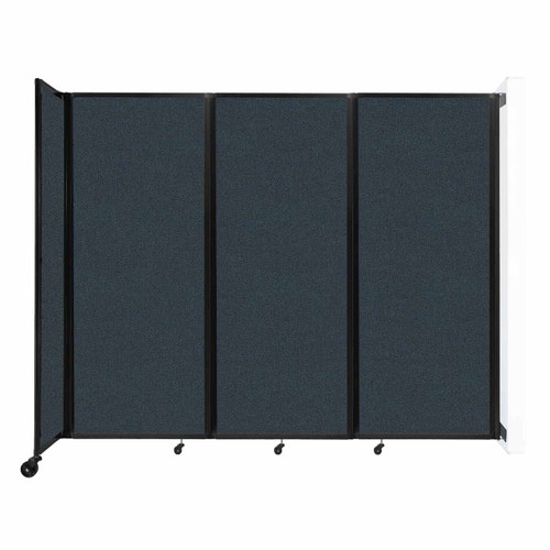 """Wall-Mounted Room Divider 360 Folding Partition 8'6"""" x 6'10"""" Blue Spruce Fabric"""