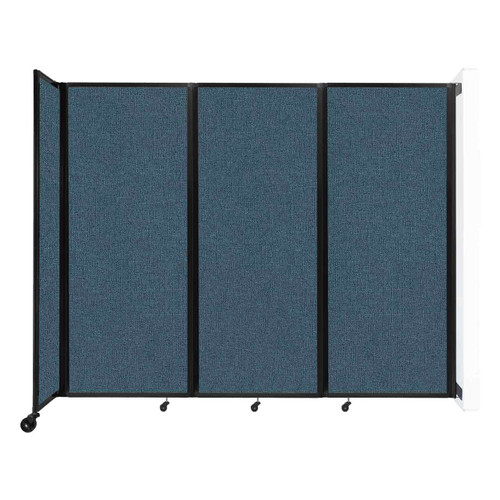 """Wall-Mounted Room Divider 360 Folding Partition 8'6"""" x 6'10"""" Caribbean Fabric"""