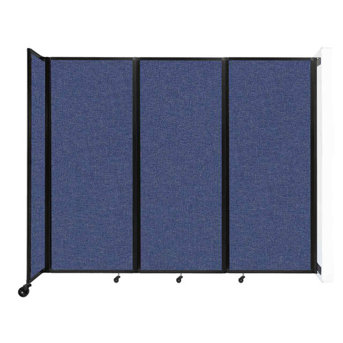 """Wall-Mounted Room Divider 360 Folding Partition 8'6"""" x 6'10"""" Cerulean Fabric"""