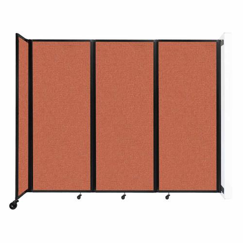"""Wall-Mounted Room Divider 360 Folding Partition 8'6"""" x 6'10"""" Papaya Fabric"""