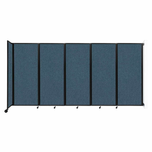 """Wall-Mounted Room Divider 360 Folding Partition 14' x 6'10"""" Caribbean Fabric"""
