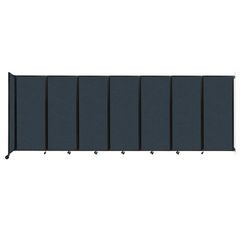 """Wall-Mounted Room Divider 360 Folding Partition 19'6"""" x 6'10"""" Blue Spruce Fabric"""