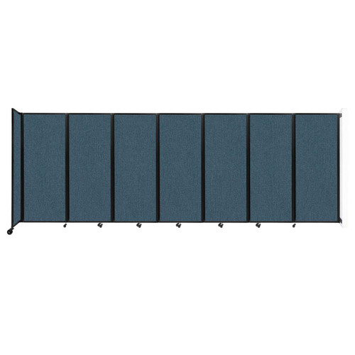 """Wall-Mounted Room Divider 360 Folding Partition 19'6"""" x 6'10"""" Caribbean Fabric"""