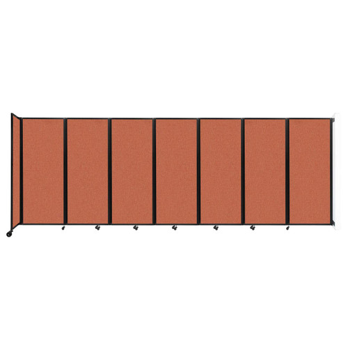 """Wall-Mounted Room Divider 360 Folding Partition 19'6"""" x 6'10"""" Papaya Fabric"""