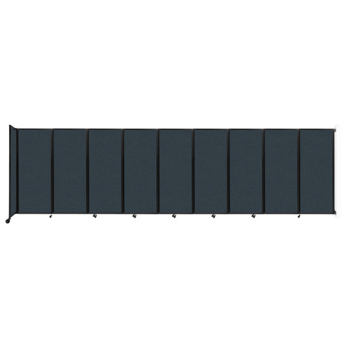 """Wall-Mounted Room Divider 360 Folding Partition 25' x 6'10"""" Blue Spruce Fabric"""