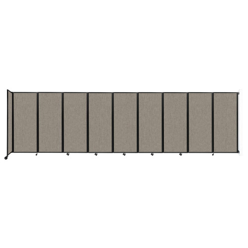 """Wall-Mounted Room Divider 360 Folding Partition 25' x 6'10"""" Warm Pebble Fabric"""