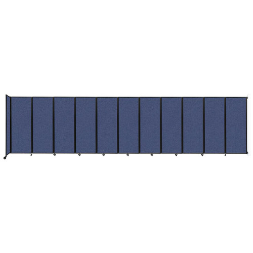 """Wall-Mounted Room Divider 360 Folding Partition 30'6"""" x 7'6"""" Cerulean Fabric"""