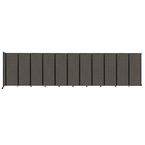 """Wall-Mounted Room Divider 360 Folding Partition 30'6"""" x 7'6"""" Mocha Fabric"""