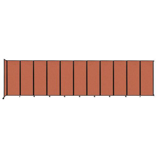 """Wall-Mounted Room Divider 360 Folding Partition 30'6"""" x 7'6"""" Papaya Fabric"""