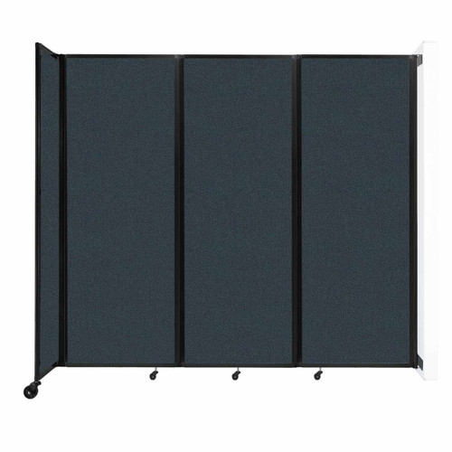 """Wall-Mounted Room Divider 360 Folding Partition 8'6"""" x 7'6"""" Blue Spruce Fabric"""
