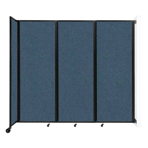 """Wall-Mounted Room Divider 360 Folding Partition 8'6"""" x 7'6"""" Caribbean Fabric"""