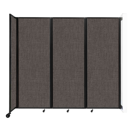 """Wall-Mounted Room Divider 360 Folding Partition 8'6"""" x 7'6"""" Mocha Fabric"""