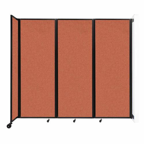 """Wall-Mounted Room Divider 360 Folding Partition 8'6"""" x 7'6"""" Papaya Fabric"""