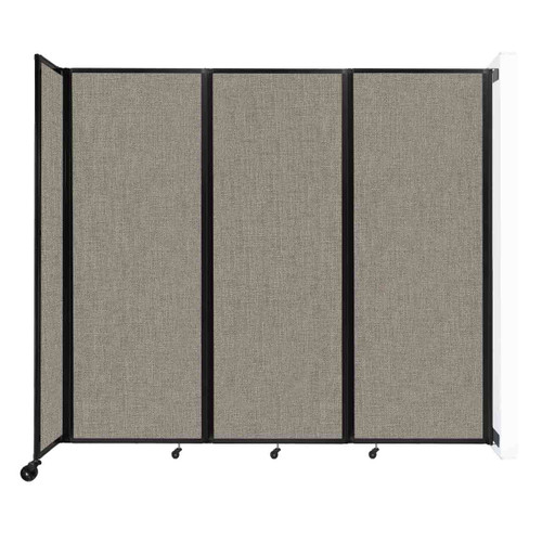 """Wall-Mounted Room Divider 360 Folding Partition 8'6"""" x 7'6"""" Warm Pebble Fabric"""