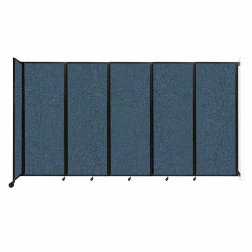 """Wall-Mounted Room Divider 360 Folding Partition 14' x 7'6"""" Caribbean Fabric"""