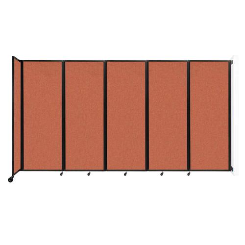 """Wall-Mounted Room Divider 360 Folding Partition 14' x 7'6"""" Papaya Fabric"""