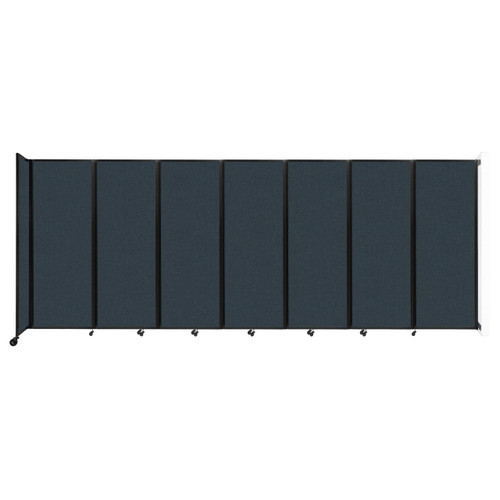 """Wall-Mounted Room Divider 360 Folding Partition 19'6"""" x 7'6"""" Blue Spruce Fabric"""