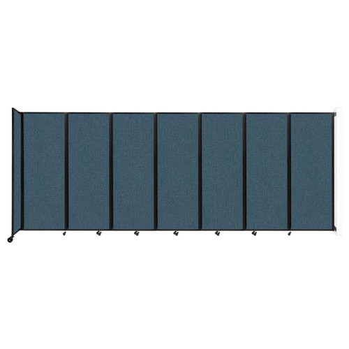 """Wall-Mounted Room Divider 360 Folding Partition 19'6"""" x 7'6"""" Caribbean Fabric"""