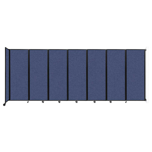 """Wall-Mounted Room Divider 360 Folding Partition 19'6"""" x 7'6"""" Cerulean Fabric"""