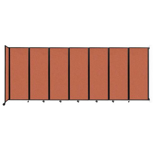 """Wall-Mounted Room Divider 360 Folding Partition 19'6"""" x 7'6"""" Papaya Fabric"""