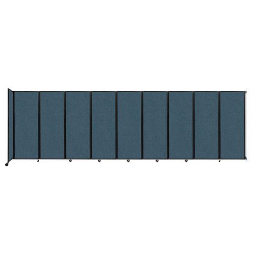 """Wall-Mounted Room Divider 360 Folding Partition 25' x 7'6"""" Caribbean Fabric"""