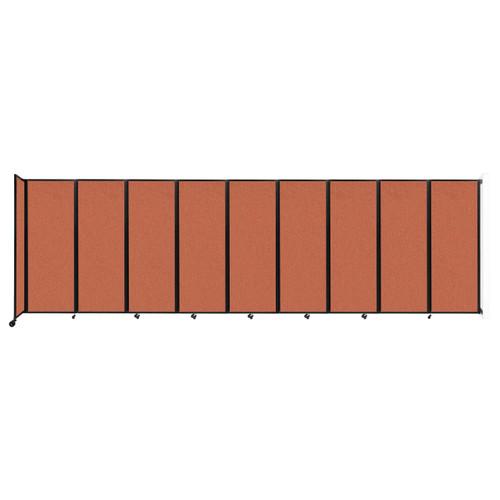 """Wall-Mounted Room Divider 360 Folding Partition 25' x 7'6"""" Papaya Fabric"""