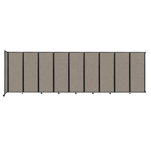 """Wall-Mounted Room Divider 360 Folding Partition 25' x 7'6"""" Warm Pebble Fabric"""