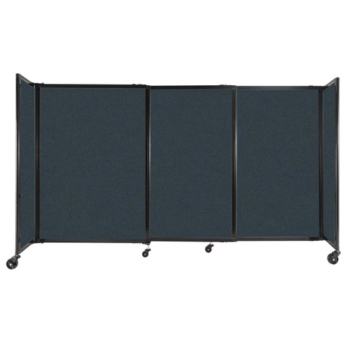 """StraightWall Sliding Portable Partition 7'2"""" x 4' Blue Spruce Fabric"""