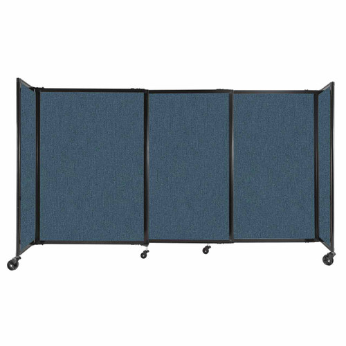 """StraightWall Sliding Portable Partition 7'2"""" x 4' Caribbean Fabric"""
