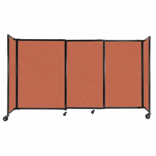 "StraightWall Sliding Portable Partition 7'2"" x 4' Papaya Fabric"
