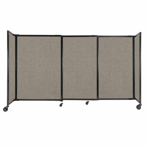 """StraightWall Sliding Portable Partition 7'2"""" x 4' Warm Pebble Fabric"""