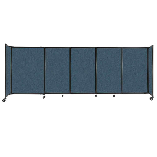 """StraightWall Sliding Portable Partition 11'3"""" x 4' Caribbean Fabric"""