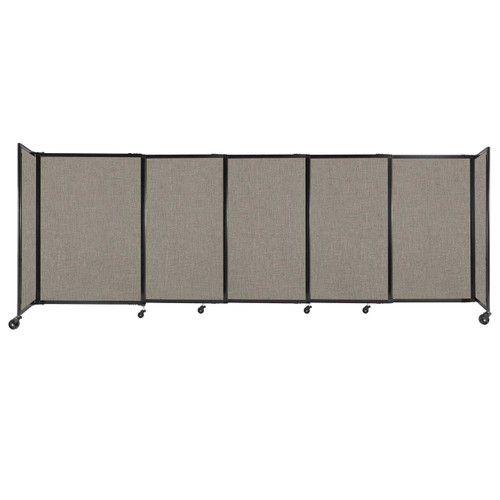 """StraightWall Sliding Portable Partition 11'3"""" x 4' Warm Pebble Fabric"""