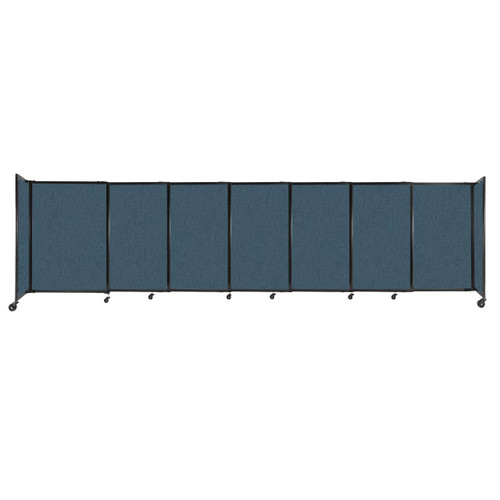 """StraightWall Sliding Portable Partition 15'6"""" x 4' Caribbean Fabric"""