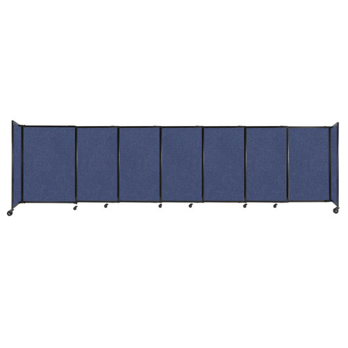 """StraightWall Sliding Portable Partition 15'6"""" x 4' Cerulean Fabric"""