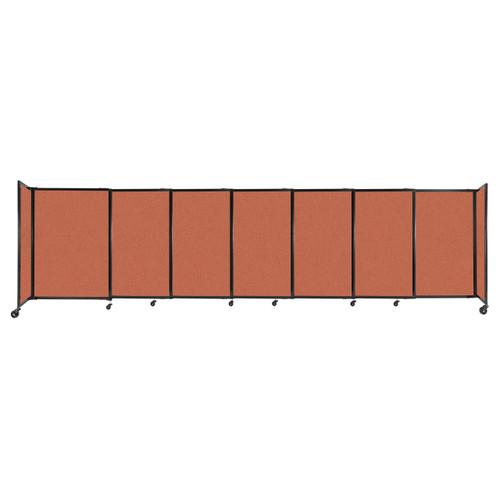 "StraightWall Sliding Portable Partition 15'6"" x 4' Papaya Fabric"
