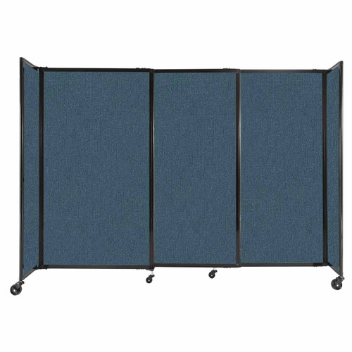 """StraightWall Sliding Portable Partition 7'2"""" x 5' Caribbean Fabric"""