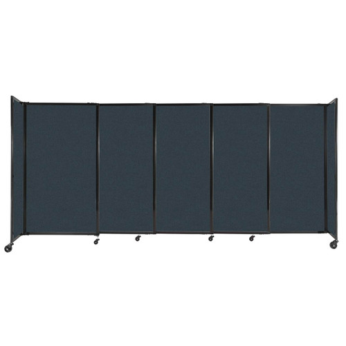 """StraightWall Sliding Portable Partition 11'3"""" x 5' Blue Spruce Fabric"""