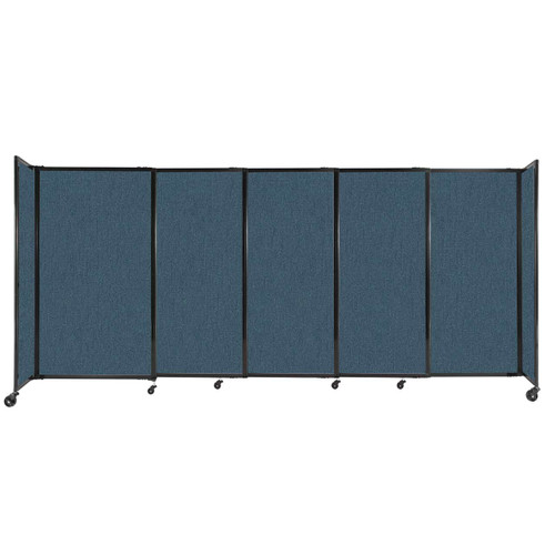 """StraightWall Sliding Portable Partition 11'3"""" x 5' Caribbean Fabric"""