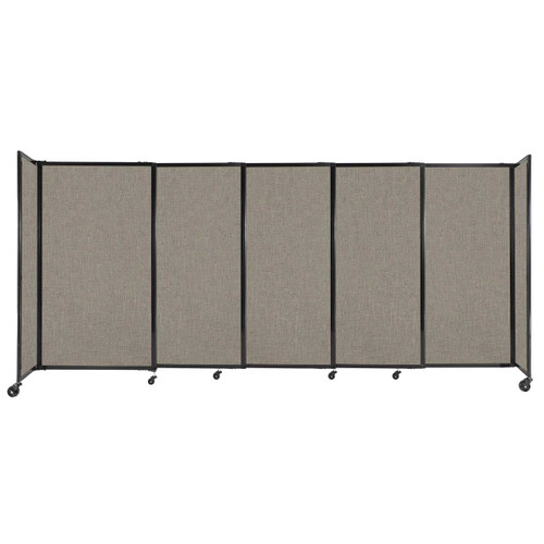 """StraightWall Sliding Portable Partition 11'3"""" x 5' Warm Pebble Fabric"""